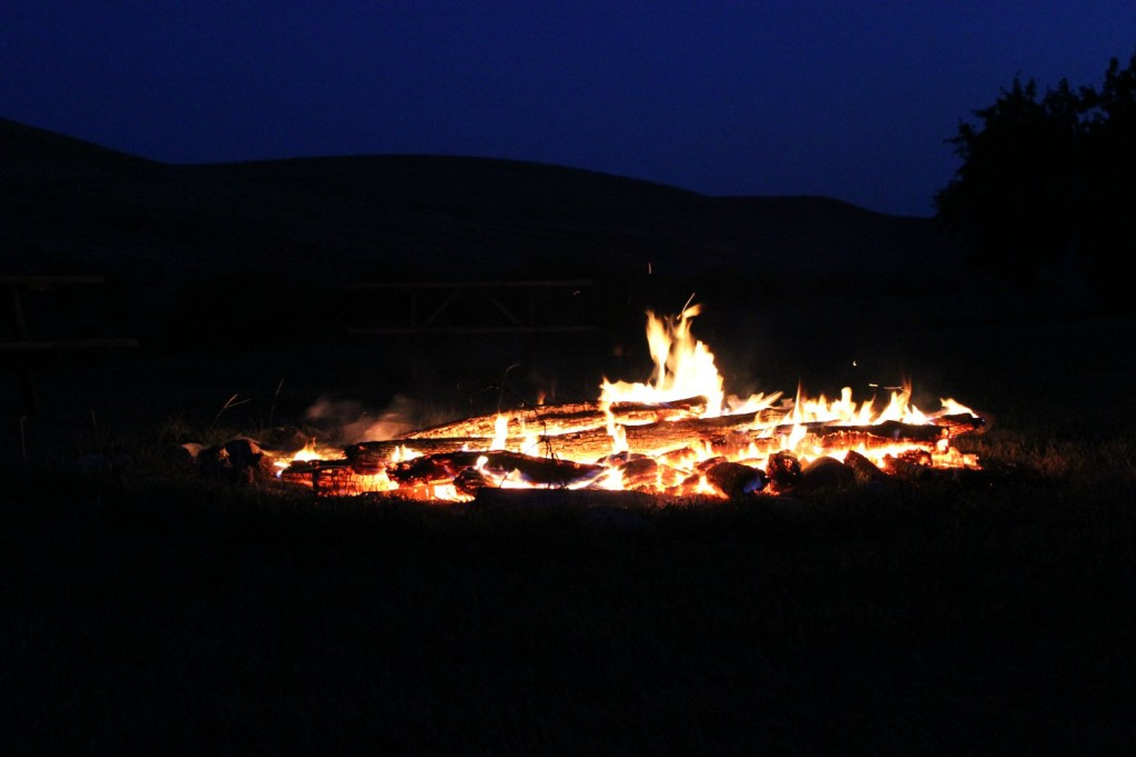 Campfire on Remote Ranch Vacation in Montana
