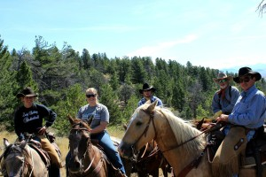 Trail Riding on Remote Ranch Vacation in Montana